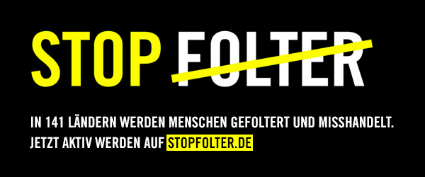 Banner Stop Folter